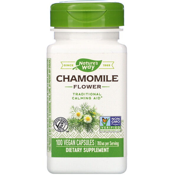 Nature's Way, Chamomile Flower, 700 mg, 100 Vegan Capsules