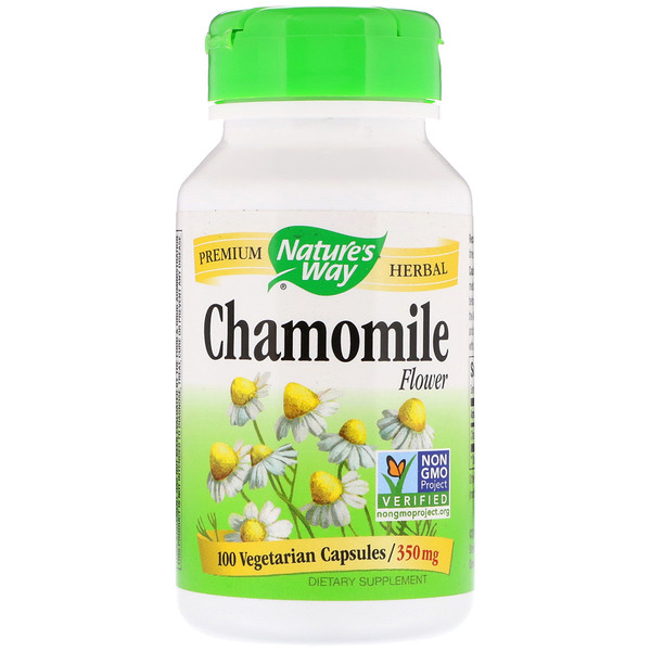 Nature's Way, Chamomile Flower, 350 mg, 100 Vegetarian Capsules
