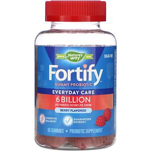 Натурес Вэй, Fortify Gummy Probiotic, Sugar-Free, Berry Flavored, 6 Billion, 60 Gummies отзывы
