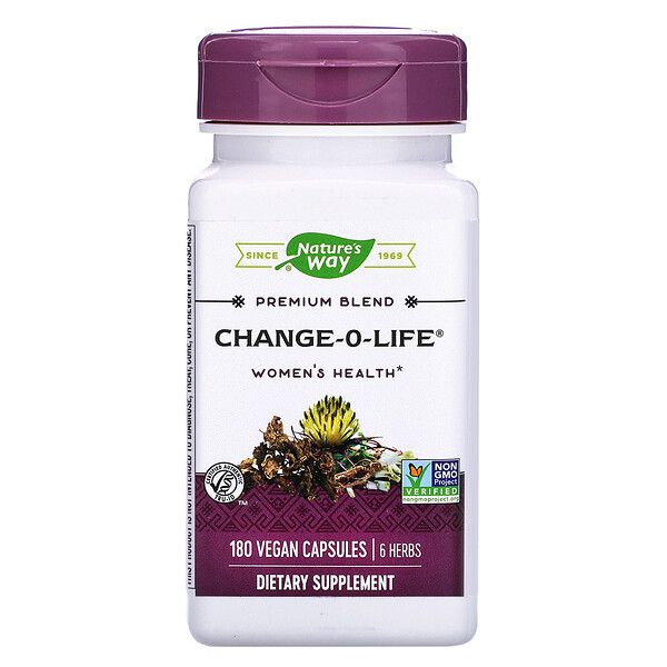 Nature's Way, Change-O-Life, Women's Health, 180 Vegan Capsules