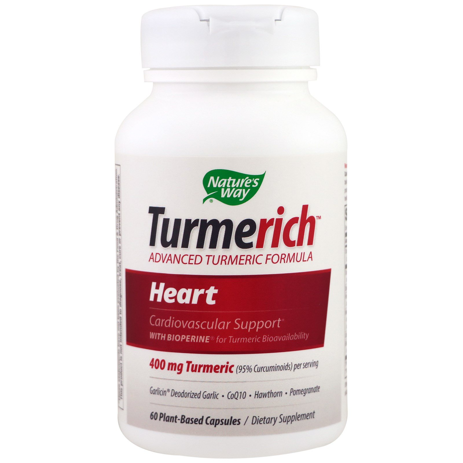 Nature's Way, Turmerich Heart, 400 mg, 60 Plant-Based Capsules