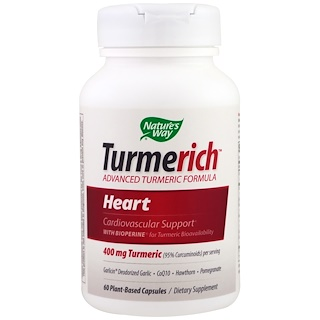 Nature's Way, Turmerich, Heart, 400 mg, 60 Plant-Based Capsules