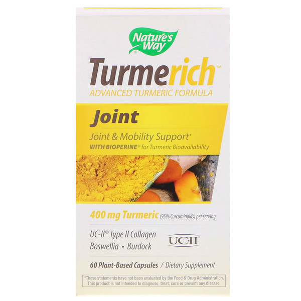 Turmerich, Joint, 400 mg, 60 Plant-Based Capsules