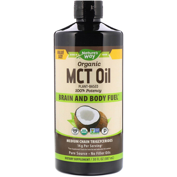 Organic MCT Oil, 30 fl oz (887 ml)