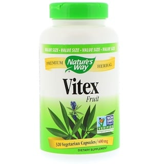 Nature's Way, Vitex Fruit, 400 mg, 320 Vegetarian Capsules