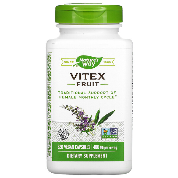 Nature's Way, Vitex Fruit, 400 mg, 320 Vegan Capsules