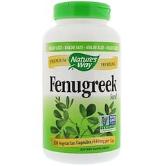 Nature's Way, Fenugreek Seed, 610 mg , 320 Vegetarian Capsules