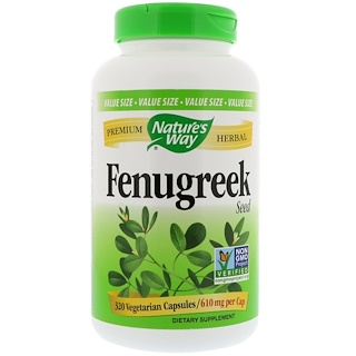 Nature's Way, Fenugreek Seed, 610 mg , 320 Vegetarian Capsules