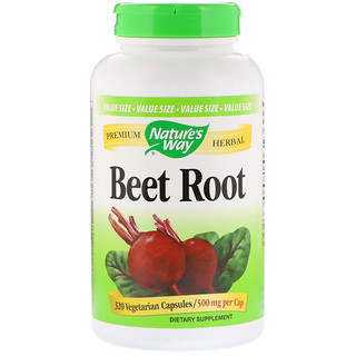 Nature's Way, Beet Root, 500 mg, 320 Vegetarian Capsules