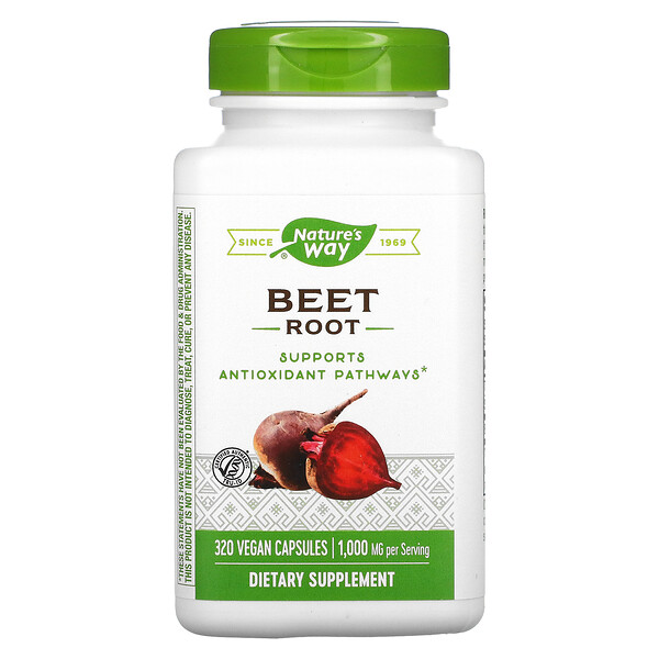 Beet Root, 1,000 mg, 320 Vegan Capsules