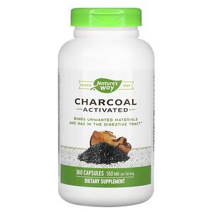Натурес Вэй, Charcoal, Activated, 560 mg, 360 Capsules отзывы покупателей