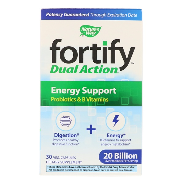 Nature's Way, Fortify, Dual Action Energy Support, 20 Billion, 30 Veg Capsules (Discontinued Item)