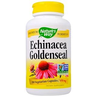 Nature's Way, Echinacea Goldenseal, 450 mg, 180 Veggie Caps