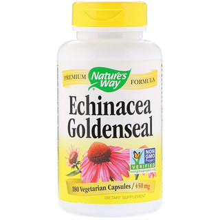 Nature's Way, Echinacea Goldenseal, 450 mg, 180 Vegetarian Capsules