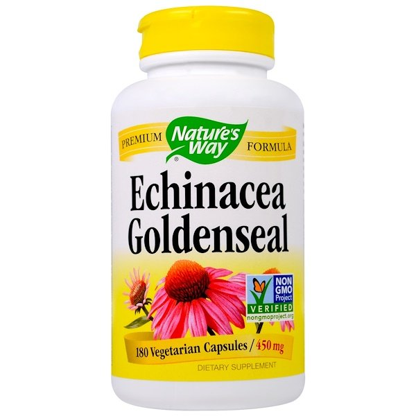 Nature's Way, Echinacea Goldenseal, 450 mg, 180 Veggie Caps