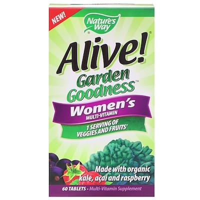 Купить Nature's Way Alive! Garden Goodness, мультивитамин для женщин, 60 таблеток