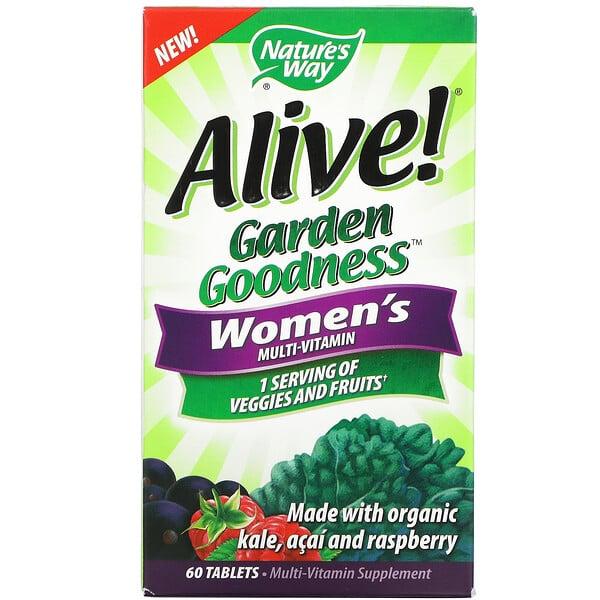 Nature's Way, Alive! Garden Goodness, Women's Multivitamin, 60 Tablets