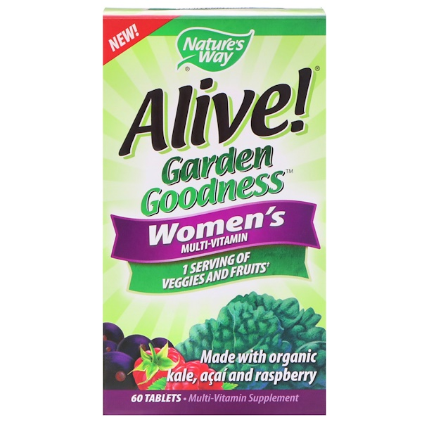 Nature's Way, Alive! Garden Goodness, Women's Multivitamin, 60 Tablets