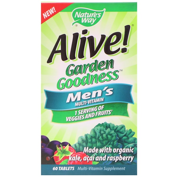 Nature's Way, Alive!, Garden Goodness, Men's Multivitamin, 60 Tablets