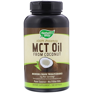 Nature's Way, MCT Oil, From Coconut, 180 Softgels