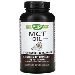 Nature's Way, MCT Oil, 180 Softgels