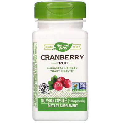 Купить Nature's Way Cranberry Fruit, 930 mg, 100 Vegan Capsules