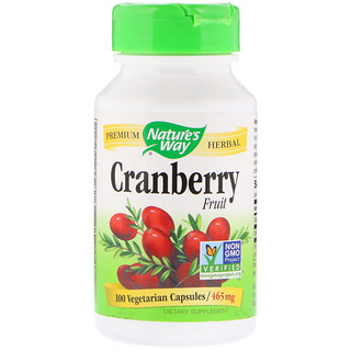 Nature's Way, Cranberry Fruit, 465 mg, 100 Vegetarian Capsules