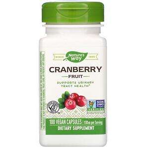 Натурес Вэй, Cranberry Fruit, 930 mg, 100 Vegan Capsules отзывы покупателей