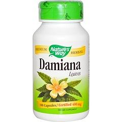 Nature's Way, Damiana, Leaves, 400 mg, 100 Capsules