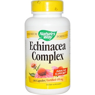Nature's Way, Комплекс эхинацеи, 450 мг, 180 капсул