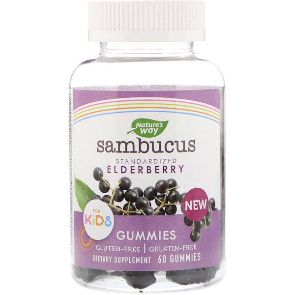 Sambucus Gummies for Kids Standardized Elderberry, 60 Gummies