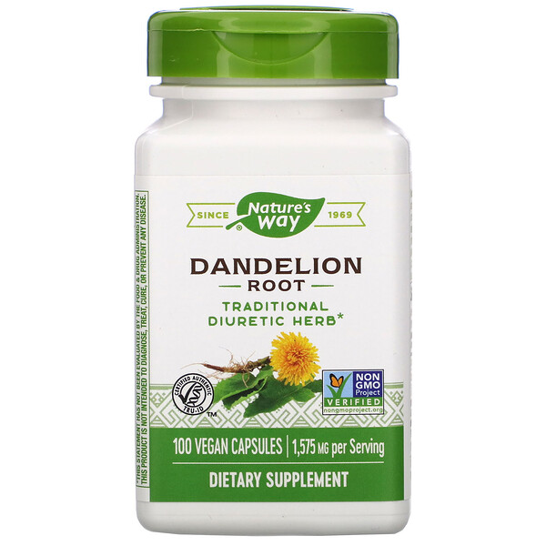 Nature's Way, Dandelion Root, 1,575 mg, 100 Vegan Capsules