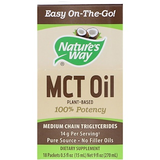 Nature's Way, MCT 오일, 18 패키지, 각 0.5 fl oz (15 ml)