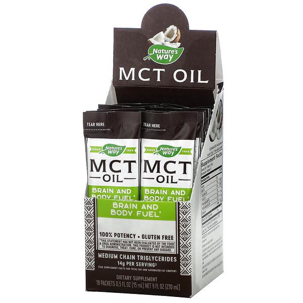 MCT Oil, 18 Packets, 0.5 fl oz (15 ml) Each
