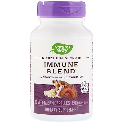 Nature's Way Immune Blend, 1600 mg, 90 Vegetarian Capsules