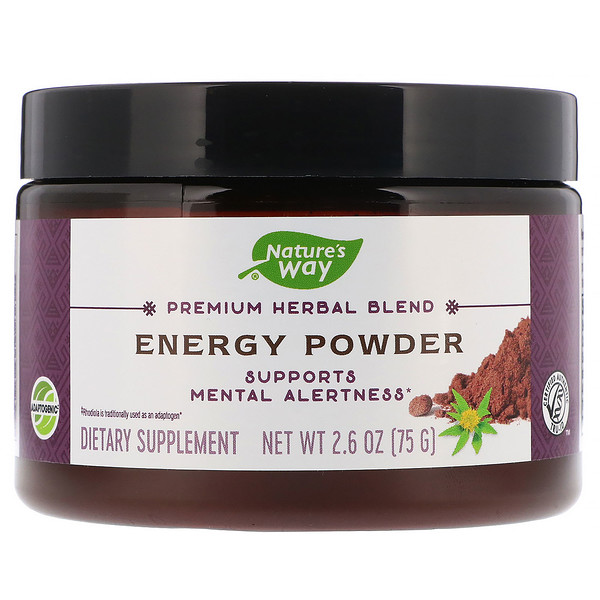 Nature's Way, Composto Herbáceo Premium, Energia em Pó, 2,6 oz (75 g) (Discontinued Item)