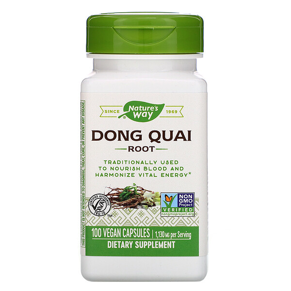Nature's Way, Dong Quai Root, 1,130 mg, 100 Vegan Capsules
