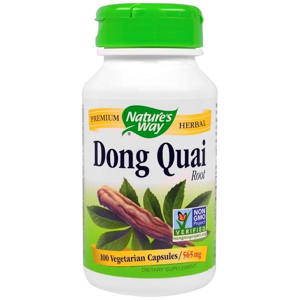 Nature's Way, Dong Quai, Root, 565 mg, 100 Veggie Caps