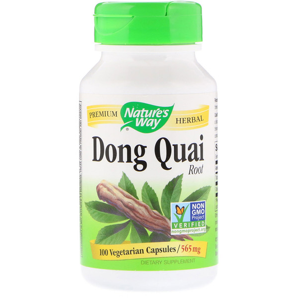 Nature's Way, Dong Quai, Root, 565 mg, 100 Vegetarian Capsules
