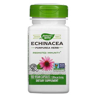 Nature's Way, Echinacea Purpurea Herb, 400 mg, 100 Vegan Capsules