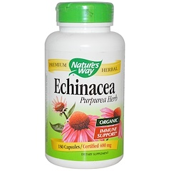 Nature's Way, Biologischer Echinacea Purpurea, 400 mg, 180 Kapseln