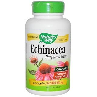 Nature's Way, Organic, Echinacea Purpurea Herb, 400 mg, 180 Capsules