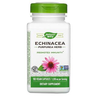 Nature's Way, Hierba de EchinaceaPurpurea, 400 mg, 180 cápsulas veganas