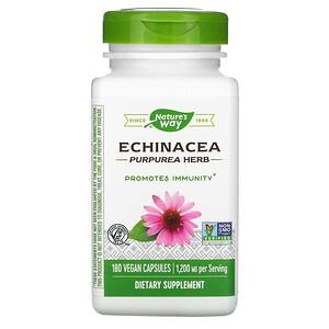 Натурес Вэй, Echinacea Purpurea Herb, 1,200 mg, 180 Vegan Capsules отзывы покупателей