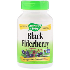 Nature's Way, Black Elderberry, 575 mg, 100 Vegetarian Capsules
