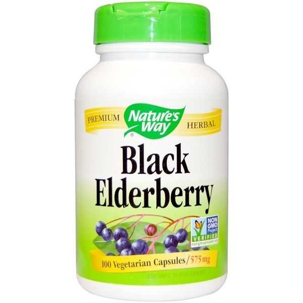 Nature's Way, Black Elderberry, 575 mg, 100 Veggie Caps
