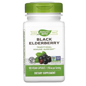 Натурес Вэй, Black Elderberry, 1,150 mg, 100 Vegan Capsules отзывы покупателей