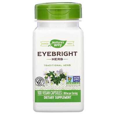 Купить Nature's Way Eyebright Herb, 860 mg, 100 Vegan Capsules