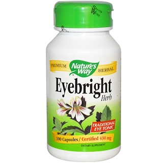 Nature's Way, Eyebright Herb, 430 mg, 100 Capsules