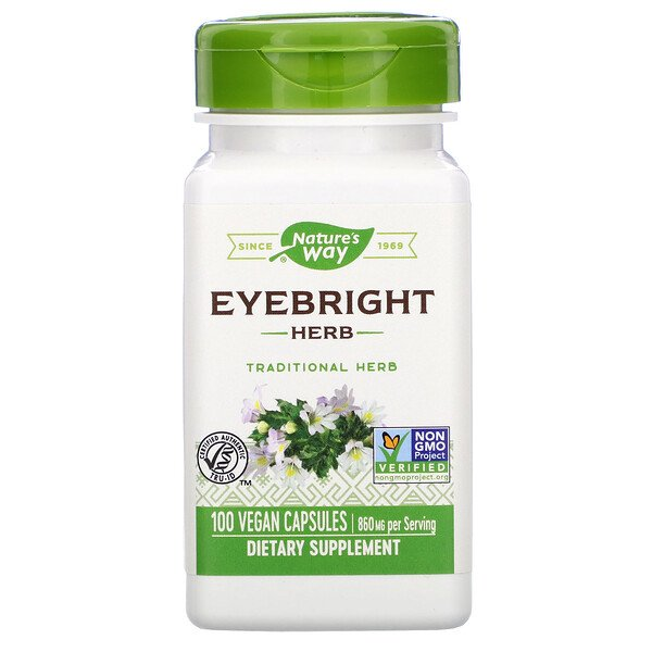 Eyebright Herb, 860 mg, 100 Vegan Capsules